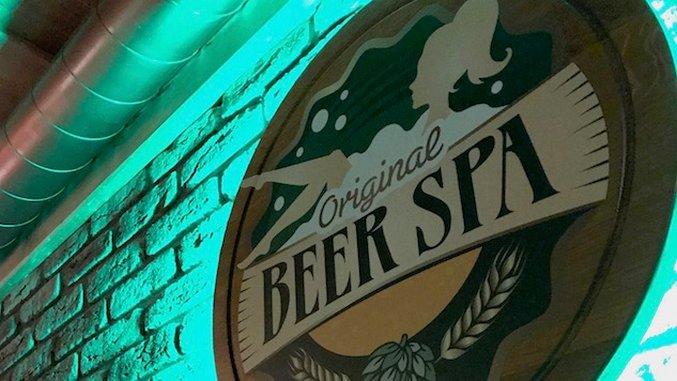 Soaking in Prague's Beer Spa