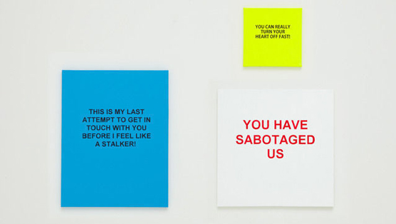 Artist turns Break-Up Texts into Pieces of Art