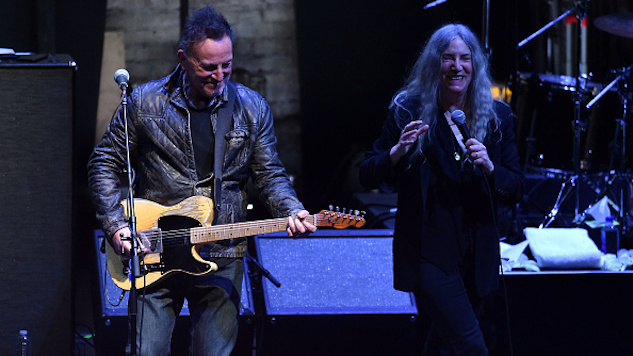 Watch Bruce Springsteen and Michael Stipe Join Patti Smith Onstage for a Mini-Concert