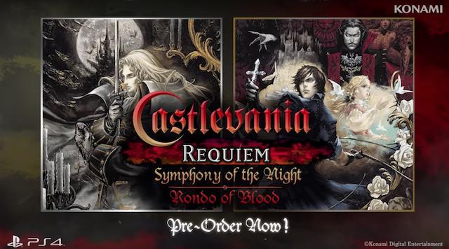 Konami Announces <i>Castlevania</i> PS4 Remasters