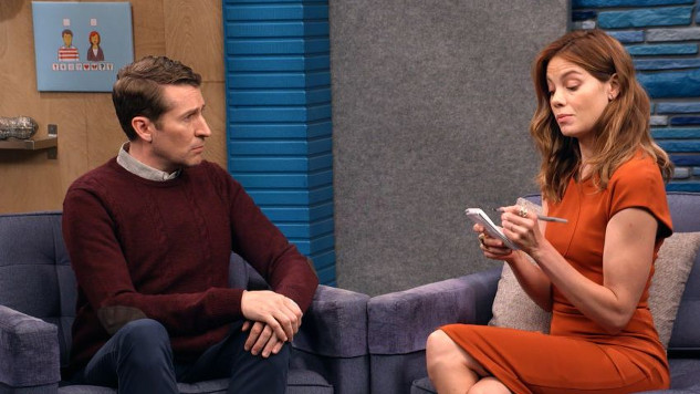 <i>Comedy Bang! Bang!</i> Review: &#8220;Michelle Monaghan Wears a Burnt Orange Dress and White Heels&#8221; (4.36)