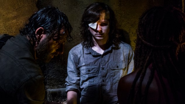 Chandler Riggs' dad unhappy with The Walking Dead mid-season finale