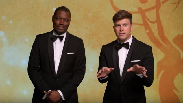 Michael Che and Colin Jost Do a Joke About Politics in This Emmys Ad
