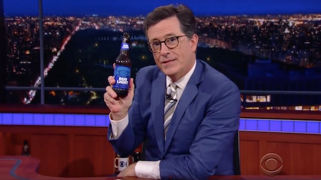Great Moments In TV Drinking: Colbert and Bud Light