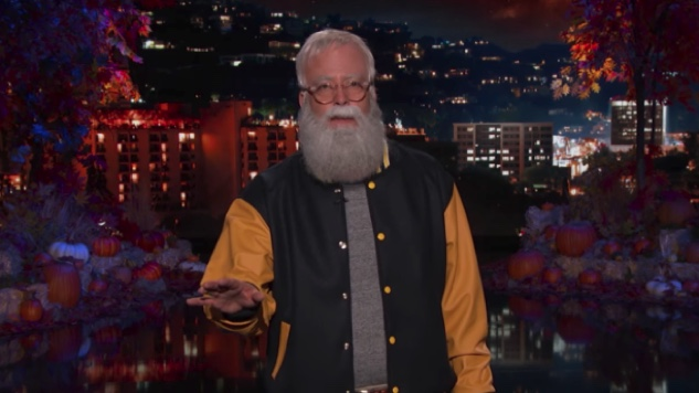 Watch Dave Grohl Guest-Host <i>Kimmel</i> While Dressed as David Letterman