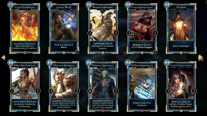 <i>The Elder Scrolls: Legends</i> is a Fine Collectible Card Game Experiment