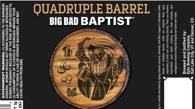 Epic Brewing Co. Quadruple Barrel Big Bad Baptist Review