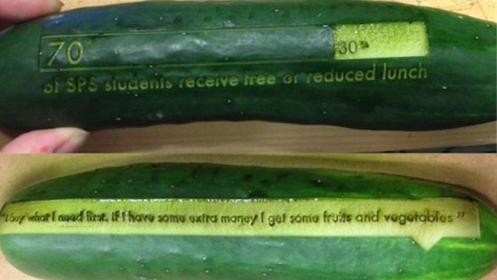 Laser-Etched Produce Works to Raise Food Access Awareness