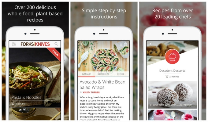 An Essential App For Anyone Pursuing A Plant Based Lifestyle Forks Over Knives Offers 200 Recipes With New Ones Added Weekly Step By