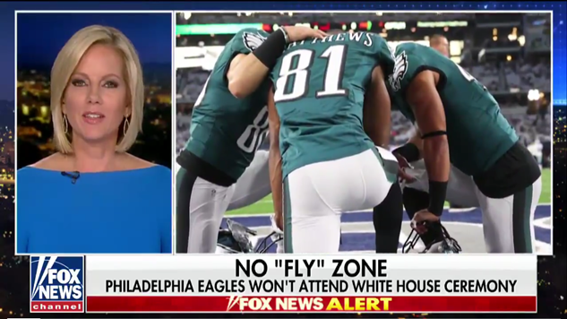 After Trump Flare-Up, Eagles Let Football (and Some Signs) Do the Talking
