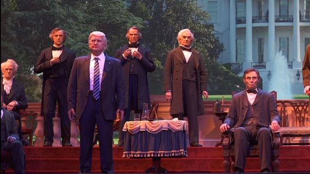 The Funniest Tweets About Trump in Disney World's Hall of Presidents