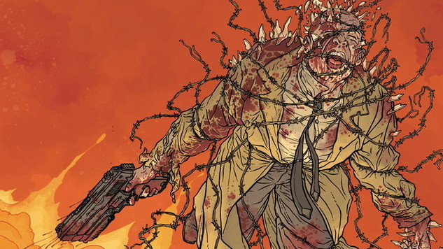 Exclusive Preview: <i>Hellboy</i> Colorist Dave Stewart Transforms Miller & Darrow's <i>Hard Boiled</i> Into a Flaming Fever Dream for New Edition
