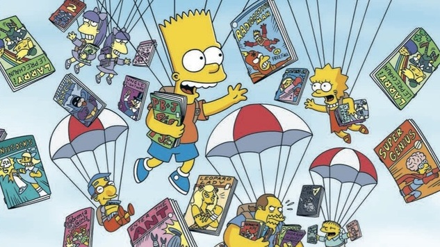 exclusive preview bongo comics free for all brings the simpsons to