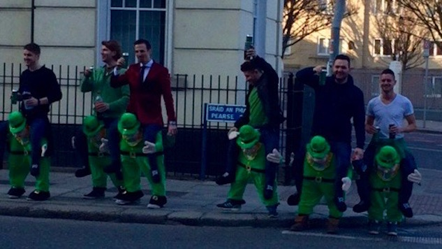 St. Patrick's Day In Dublin: Drunk Leprechauns, Sure, But No Green Beer
