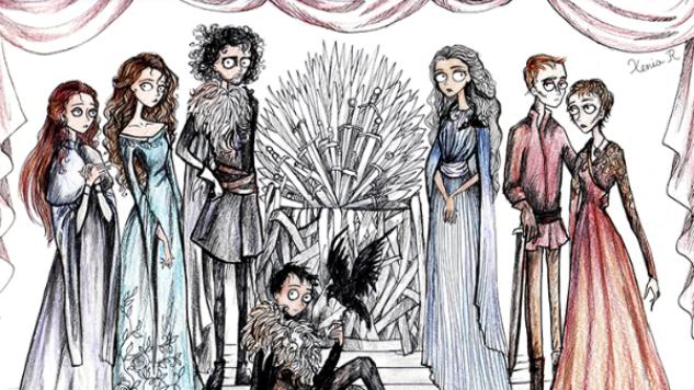 Artist Creates Oddly Beautiful <i>Game of Thrones</i>, Tim Burton Crossover Art