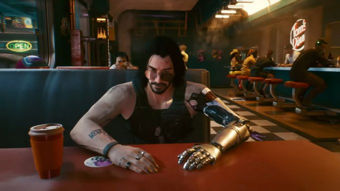 New <I>Cyberpunk 2077</I> Trailer Shows off Keanu Reeves' Character, Johnny Silverhand