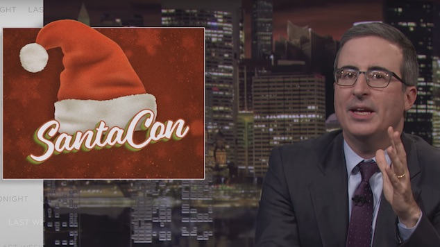 John Oliver Says No-No-No to SantaCon in a Web Exclusive <i>Last Week Tonight</i> Episode