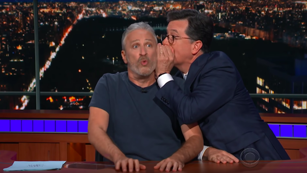 Jon Stewart Takes Over <i>The Late Show</i> to Negotiate with Trump