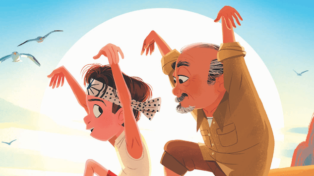 Mr. Miyagi Trains Daniel to &#8220;Wax on, Wax off&#8221; in <i>The Karate Kid</i> Picture Book