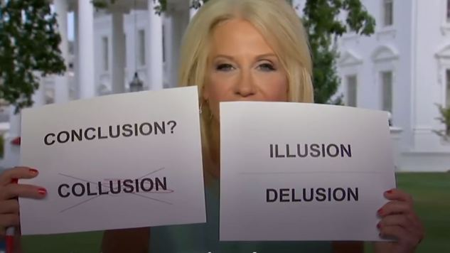 The Funniest Tweets About Kellyanne Conway's Collusion Flashcards