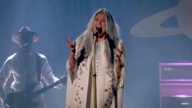 "Kesha Performs on <i>Fallon</i>, Releases ""Rainbow"" Video, New Album Now Streaming"
