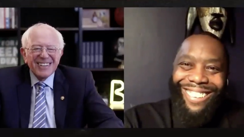 Watch Bernie Sanders Talk to Killer Mike and Alexandria Ocasio-Cortez Talk to Princess Nokia Ahead of Election