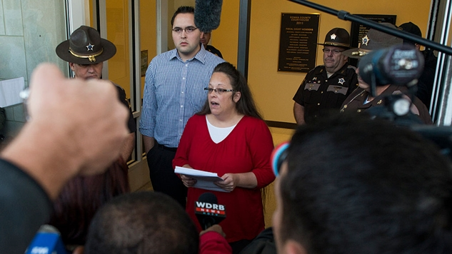 Kim Davis, Who Famously Refused to Issue Same-Sex Marriage Licenses in Kentucky, Lost Tonight