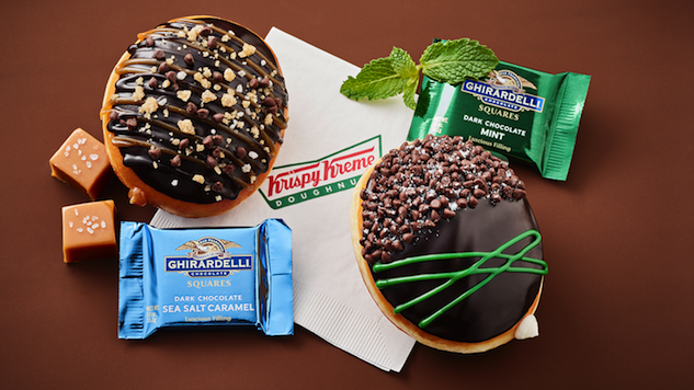 Krispy Kreme Teams Up With Ghirardelli To Bring Us Ridiculously Decadent Doughnuts