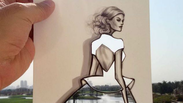Illustrator Turns Landscapes Into Gorgeous Clothing Patterns with Clever Cutouts