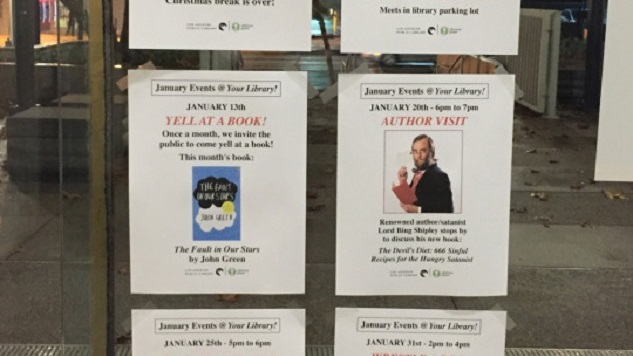 Comedian Posts Fake Event Fliers in Public Library