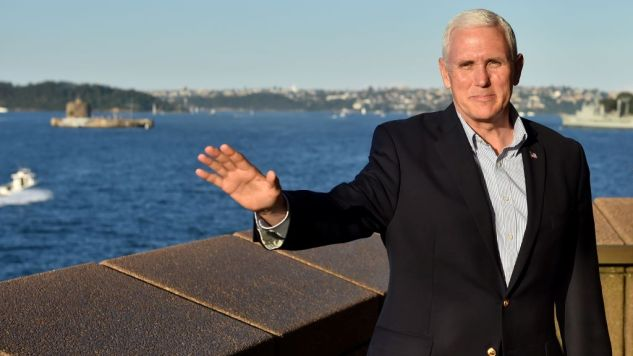 "Mike Pence Correctly Notes That Climate Change is a Big Deal to the Left ""for Some Reason"""