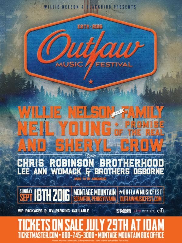Outlaw Music Festival 2020 Lineup.Inaugural Outlaw Music Festival Lineup Announced Willie