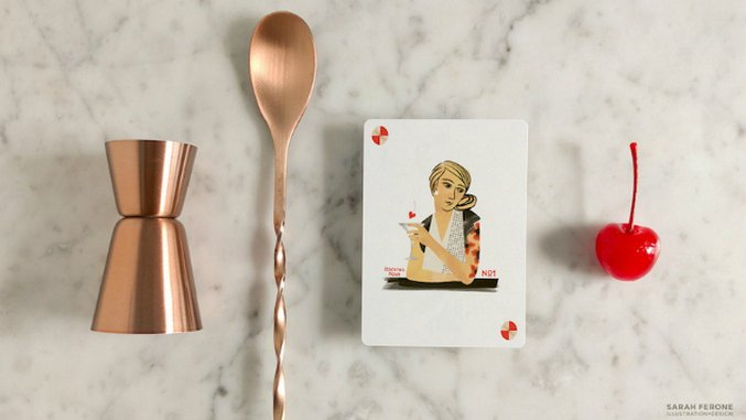 There is a Playing Card Set Inspired by Cocktails and It's Beautiful