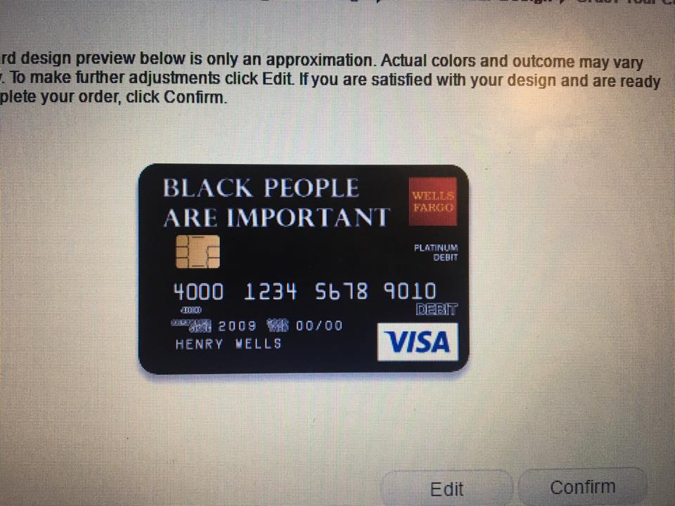 Wells Fargo Rejects Black Lives Matter Debit Card Design :: Design ...