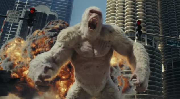 Watch The Rock in the Absurd First Trailer for Rampage