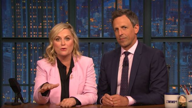 Amy Poehler Teams Up with Seth Meyers to Roast James Comey