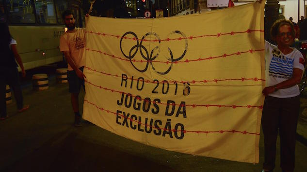 "Protestors Decry ""Olympic Calamity"" on the Streets of Rio"
