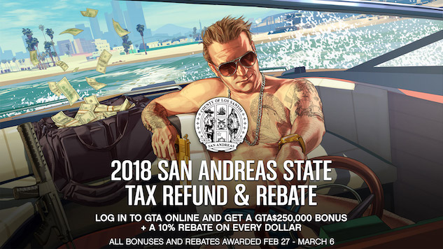 The Next <i>Grand Theft Auto Online</i> Update Gives Players an In-Game Tax Break