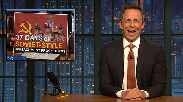 <i>Late Night with Seth Meyers</i> Dives into the Surreal Republican Reactions to the Impeachment Vote