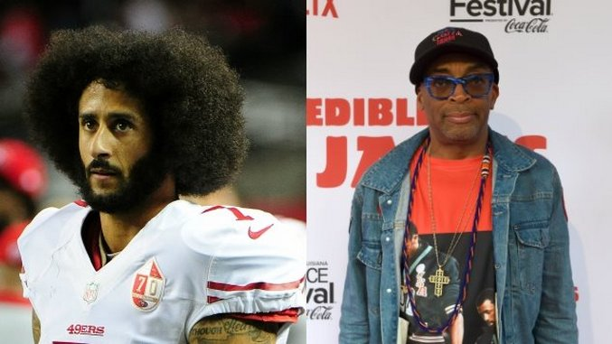 Spike Lee Promotes Rally for Colin Kaepernick