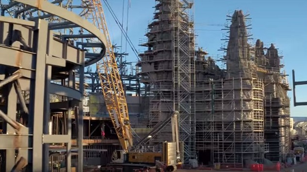 Get a Drone's Eye View of Disney's Star Wars Theme Park Expansion Under Construction
