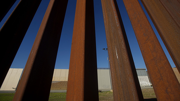 Prototype for Steel Border Wall Sawed Through in Test