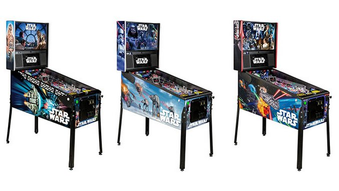 Star Wars Pinball Machine >> Stern Pinball Releases Three New Models For Star Wars 40th