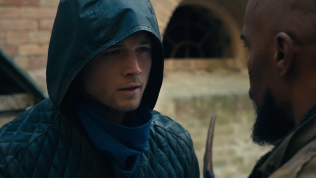 Taron Egerton Got Pretty Damn Good at Archery While Filming <i>Robin Hood</i>