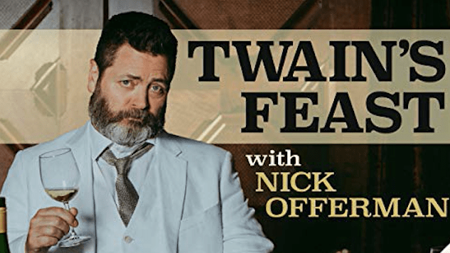 Nick Offerman Eats Raccoon in an Exclusive Clip from <i>Twain's Feast</i>