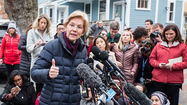 Warren Stumps in Iowa, Defends DNA Test