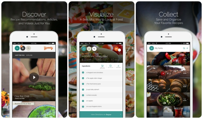 Smartphone sous chef the 10 best cooking apps tech lists yummlys strength is that it pulls together recipes from various recipe sites such as allrecipes and epicurious while also providing search results for forumfinder Gallery