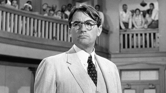 Atticus Finch in the movie, as played by Gregory Peck.