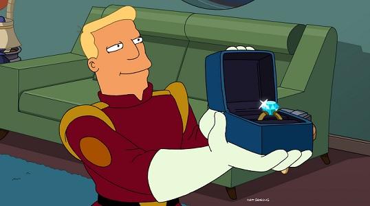 """<em>Futurama</em>: """"Zapp Dingbat"""" (7.5)"""