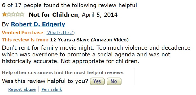 1-star-reviews-of-best-picture-winners 12-years-a-slave-review